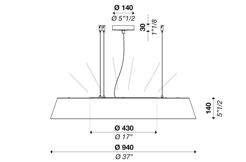 NOVA S940 up-down light POWER