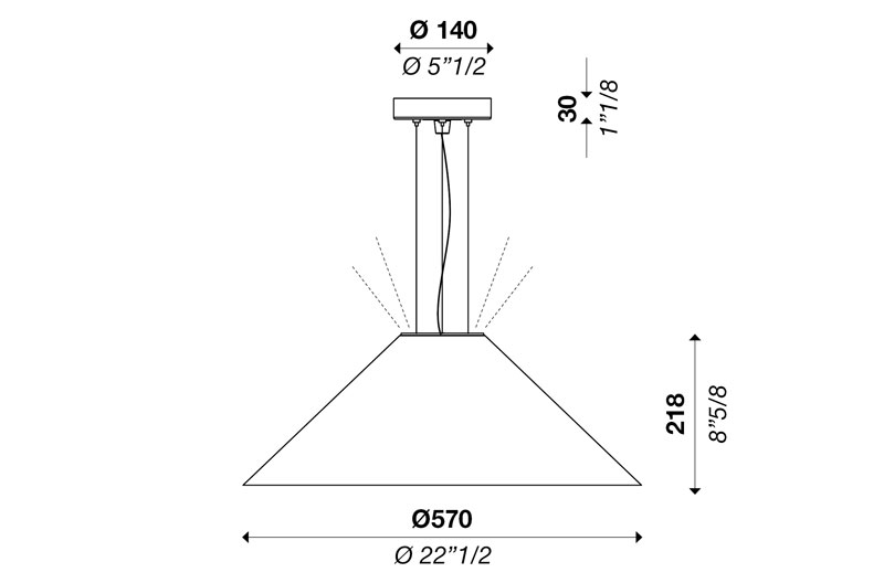 CONE S570 up-down light